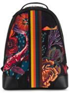 Paul Smith Ocean Print Canvas Backpack - Black