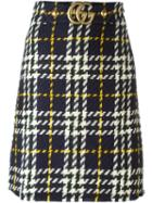 Gucci Houndstooth Knit Skirt
