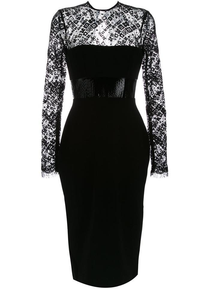 Alex Perry 'mabelle' Dress, Women's, Size: 10, Black, Polyester/polyurethane/triacetate