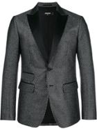 Dsquared2 Patterned Tuxedo Jacket - Black