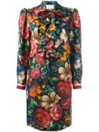 Gucci Floral Ruffled Dress - Multicolour
