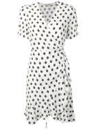 Dvf Diane Von Furstenberg Polkadot Wrap Dress - White