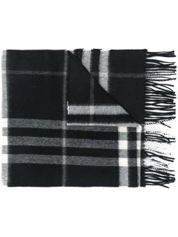 Burberry Giant Check Cashmere Scarf - Black