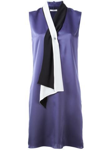 Lanvin Scarf Neckline Dress, Women's, Size: 38, Pink/purple, Polyester/silk