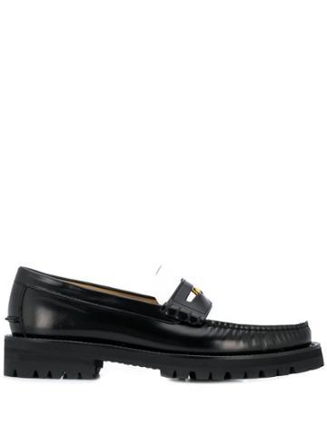 Versace Bi-colour Medusa Loafers - Black