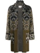 Etro Jacquard Cardigan Coat - Brown