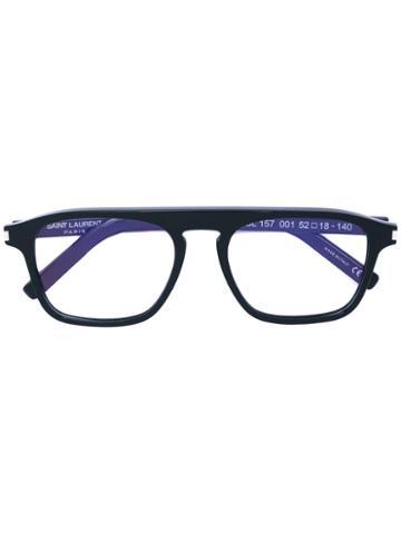 Saint Laurent - Square Frame Glasses - Unisex - Acetate - One Size, Black, Acetate