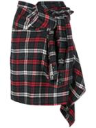 Dsquared2 Asymmetric Checked Skirt - Multicolour