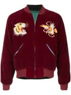 Fake Alpha Vintage 1950s Souvenir Jacket - Red