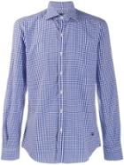 Fay Gingham Print Shirt - Blue