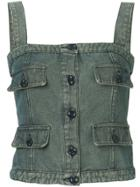 Chanel Vintage Cc Sleeveless Camisole Top - Blue