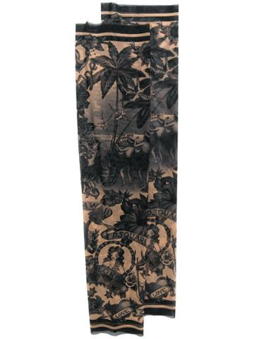 Dsquared2 Aloha Print Tattoo Sleeves - Black