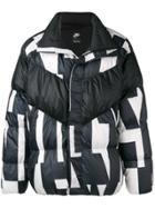 Nike Printed Padded Jacket - Black