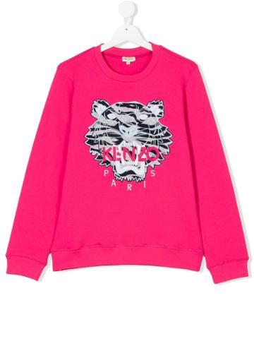 Kenzo Kids Tiger Print Sweatshirt - Pink