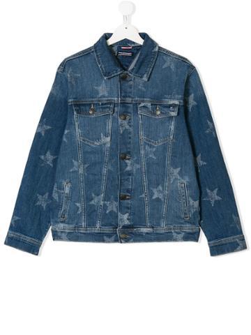 Tommy Hilfiger Junior Star Print Denim Jacket - Blue