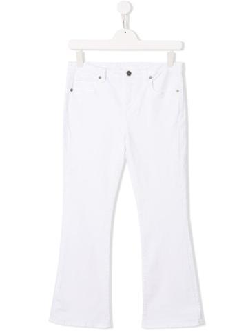 Douuod Kids White Heart Trousers