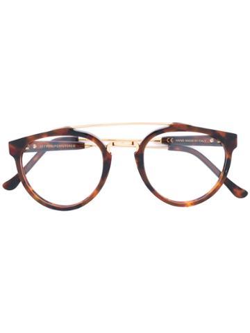 Retrosuperfuture - Giaguaro Glasses - Unisex - Acetate/metal - 49, Brown, Acetate/metal