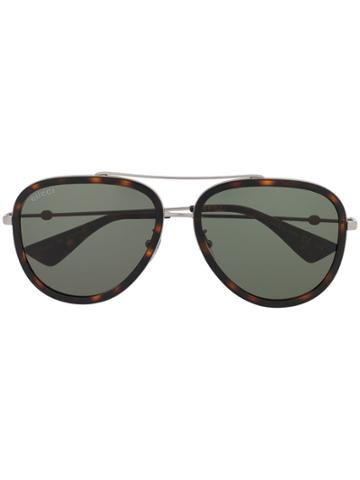 Gucci Eyewear Aviator Sunglasses - Silver