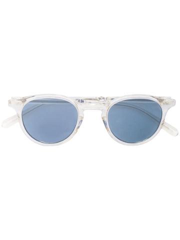 Garrett Leight Round Sunglasses - White
