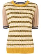 Marni Patterned Knit Top - Brown