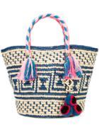 Yosuzi - Manya Tassel Rope Tote - Women - Cotton/straw (brown) - One Size, Cotton/straw