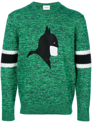 Iceberg - 'batman' Sweater - Men - Wool/cotton - Xl, Green, Wool/cotton