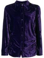Erika Cavallini Velvet Shirt - Purple