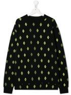Marcelo Burlon County Of Milan Kids Teen Logo Print Sweatshirt - Black
