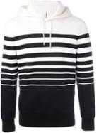 Neil Barrett Striped Hoodie, Men's, Size: Small, Black, Viscose/polyurethane