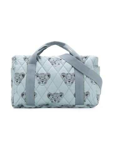 Moumout Lion Cub Print Changing Bag - Blue