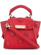 Zac Zac Posen Mini 'eartha Iconic Top Handle' Floral Crossbody Bag, Women's, Red, Calf Leather
