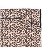 Twin-set Leopard Print Scarf - Brown