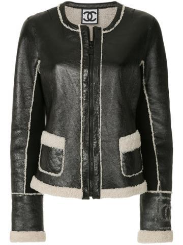Chanel Vintage Collarless Fitted Jacket - Black