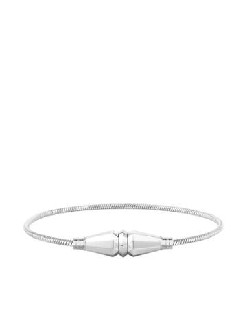 Boucheron 18kt White Gold Jack De Boucheron Single Wrap Bracelet - Wg