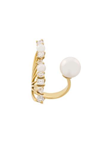 Ileana Makri 18kt Yellow Gold Diamond Reef Ring