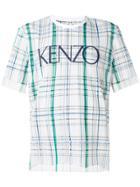 Kenzo Check Print Overlay T-shirt - White