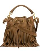 Saint Laurent Small 'emmanuelle' Bucket Shoulder Bag, Women's, Brown