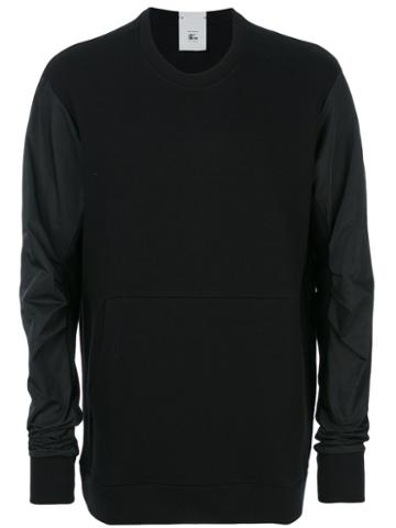 Lost & Found Rooms - Technical Sleeve Sweatshirt - Men - Cotton/polyester - M, Black, Cotton/polyester