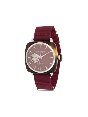 Briston Watches Clubmaster Iconic Acetate Watch - Red