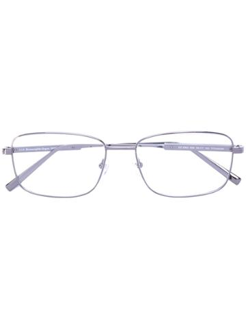 Ermenegildo Zegna - Square-frame Glasses - Men - Titanium/acetate - 56, Grey, Titanium/acetate
