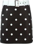 Jeremy Scott Polka Dot Mini Skirt