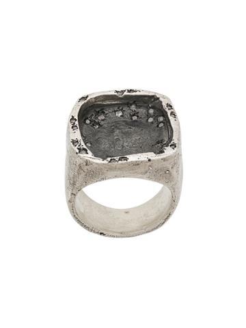 Tobias Wistisen Exposed Set Crystal Ring - Metallic