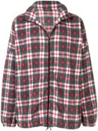 Balenciaga Checked Zipped Fleece - Grey