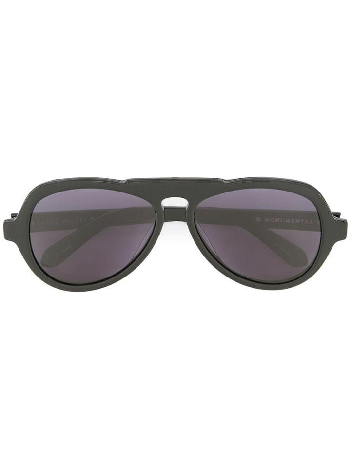Karen Walker The Oscar Sunglasses - Black