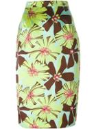 Prada Vintage Floral Pencil Skirt