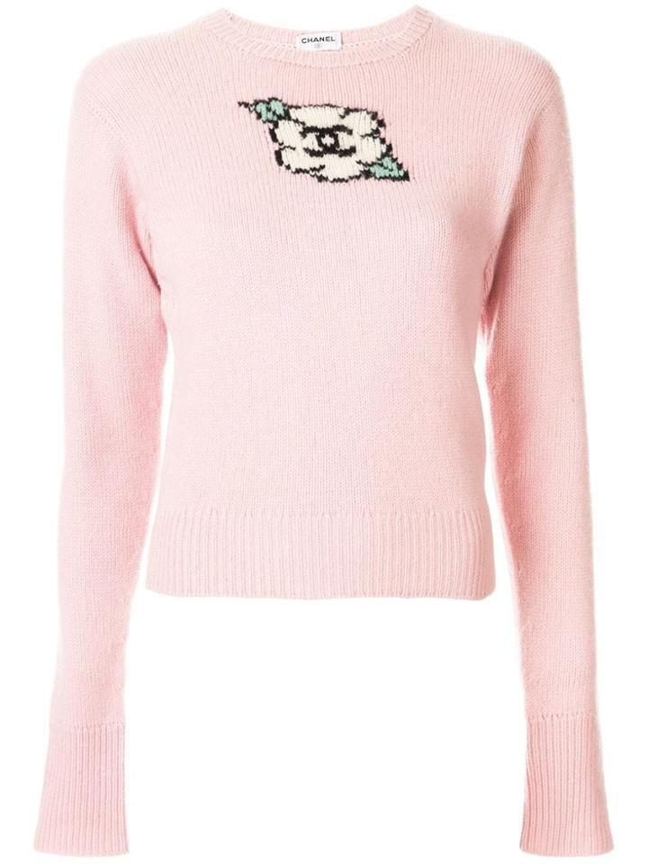 Chanel Pre-owned Cc Flower Fitted Jumper - Pink