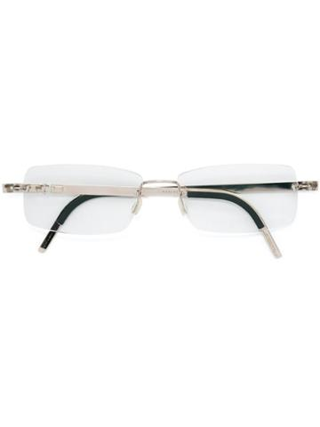 Lindberg 'precious' Glasses, Grey, Diamond/18kt White Gold