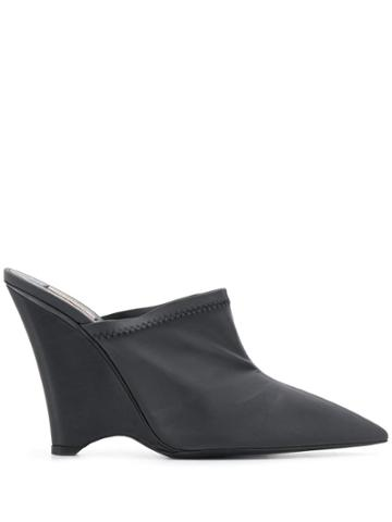 Yeezy Angled Wedge Mules - Black