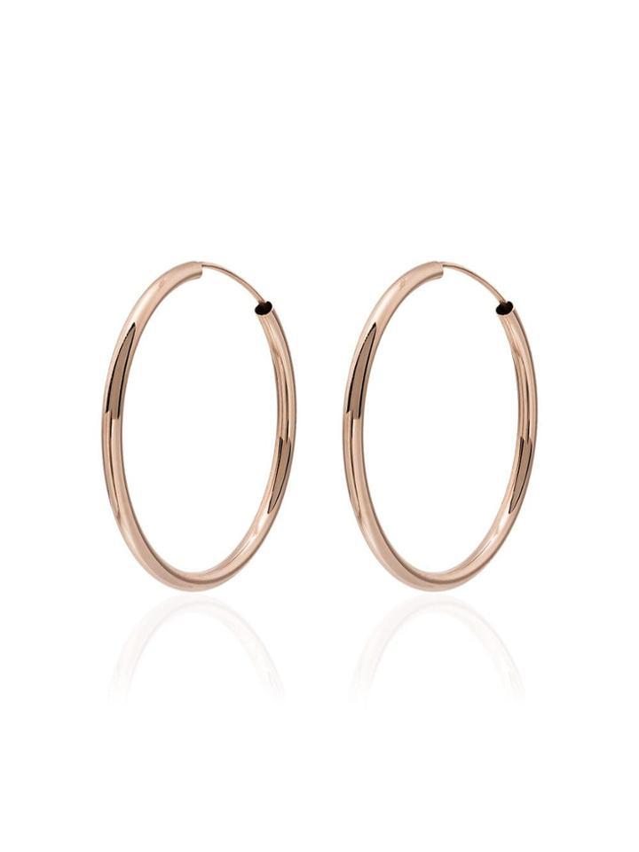 Jacquie Aiche Gold Smooth Hoop Earrings - Metallic
