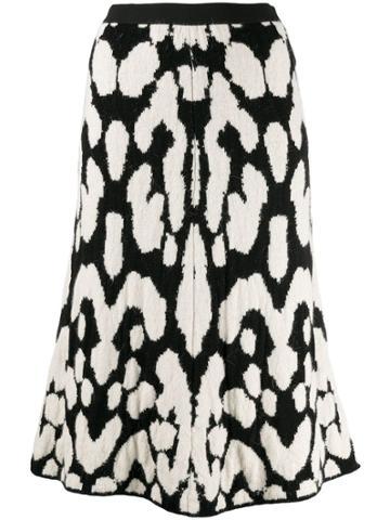 Pierantoniogaspari Printed Midi Skirt - White